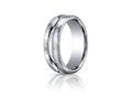 Benchmark® Palladium 7.5mm Comfort-fit Satin-finished High Polished Center Cut Carved Design Band