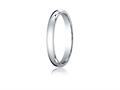 Benchmark 10k White Gold 3mm Slightly Domed Standard Comfort-fit Ring