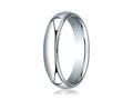 Benchmark® 18k Gold 5mm Slightly Domed Standard Comfort-fit Ring With Milgrain