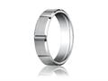 Benchmark® Platinum 6mm Comfort-fit Satin-finished Grooves Carved Design Band