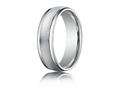 Benchmark® Platinum 6mm Comfort-fit Wired-finished High Polished Round Edge Carved Design Band