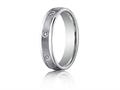 Benchmark® 4mm Comfort Fit Diamond Wedding Band / Ring