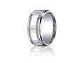 Benchmark® Argentium Silver 10mm Comfort-fit High Polished Milgrain Design Band