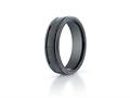 Benchmark® Ceramic 6mm Comfort-fit Satin-finished Round Edge Design Ring