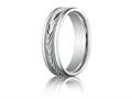 Benchmark® Palladium 6mm Comfort-fit Harvest Of Love Round Edge Carved Design Band