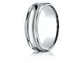 Benchmark® Palladium 7mm Comfort-fit High Polished With Milgrain Round Edge Carved Design Band