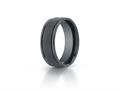 Benchmark® Ceramic 8mm Comfort-fit Satin-finished Round Edge Design Ring