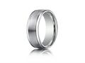 Benchmark® Palladium 8mm Comfort-fit Satin-finished High Polished Round Edge Carved Design Band