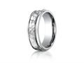 Benchmark® 7mm Titanium Comfort Fit Hammered-Finished  Wedding Band / Ring