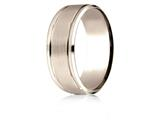 Benchmark® 14 Karat Rose Gold 8mm Comfort-fit Drop Bevel Satin Finish Design Band style: CF18801014KR
