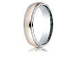 Benchmark® 14k Two-toned 6mm Comfort-fit High Polished Milgrain Carved Design Band style: CF216027