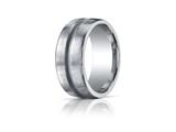 Benchmark® Argentium Silver 10mm Comfort-fit Satin-finished Design Band style: CF311048SV