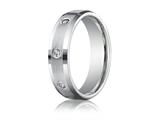 Benchmark® 6mm Round 0.32 cttw Diamonds Mens Band