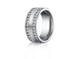 Benchmark 8mm Comfort Fit Diamond Wedding Band / Ring