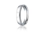 Benchmark Cobalt Chrome 5mm Comfort-fit High Polished Design Ring