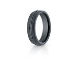 Benchmark Ceramic 6mm Comfort-fit Satin-finished Design Ring