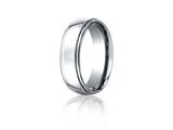 Benchmark® Cobalt Chrome™ 7mm Comfort-fit High Polished Design Ring style: CF570CC
