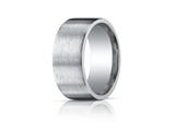 Benchmark® Argentium Silver 10mm Comfort-fit Satin-finished Design Band style: CF610420SV