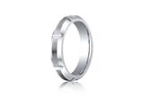 Benchmark® Cobalt Chrome™ 5mm Comfort-fit Satin-finished High Polished Grooves and Beveled Edge Design Ring