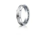 Benchmark® Cobalt Chrome™ 6mm Comfort-fit Satin-finished Beveled Edge Design Ring style: CF66416CC