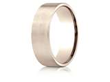 Benchmark® 14k Rose Gold 7mm Comfort-fit Satin-finished Carved Design Band style: CF6742014KR