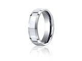 Benchmark® Cobalt Chrome™ 7mm Comfort-fit High Polished Beveled Edge Design Ring