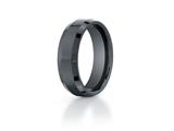 Benchmark Ceramic 7mm Comfort-fit High Polished Beveled Edge Design Ring