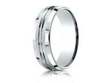Benchmark® 7mm Comfort-fit Satin-finished Beveled Edge Design Ring style: CF67439