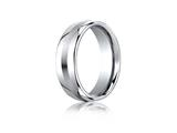 Benchmark Cobalt Chrome 7.5mm Comfort-fit Satin-finished Design Ring