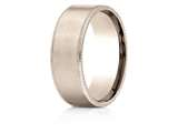 Benchmark® 14k Rose Gold 8mm Comfort-fit Riveted Edge Satin Finish Design Band style: CF6843414KR