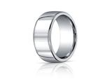 Benchmark Argentium Silver 10mm Comfort-fit High Polished Design Band