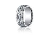 Benchmark® Argentium Silver 10mm Comfort-fit Celtic Knot Design Band style: CF710146SV