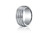 Benchmark® Argentium Silver 10mm Comfort-fit Satin-finished Braid Design Band
