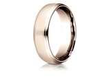 Benchmark® 14 Karat Rose Gold 6.5mm Comfort-fit Drop Edge High Polish Design Band style: CF71654014KR