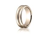 Benchmark® 7.5mm Comfort-fit High Polished Double-domed Carved Design Band