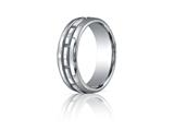 Benchmark® 7.5mm Comfort-fit High Polished Rectangle Carved Design Band style: CF71750318K