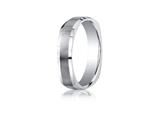 Benchmark® Argentium Silver 5mm Comfort-fit Four-sided Design Band