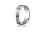 Benchmark Argentium Silver 7mm Comfort-fit Four-sided Design Band