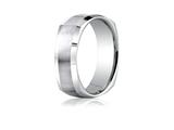 Benchmark 7mm Comfort-fit Satin-finished Four-sided Carved Design Band
