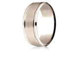 Benchmark® 14 Karat Rose Gold 8mm Comfort-fit Drop Bevel Satin Finish Design Band style: CFR188010