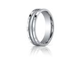 Benchmark® 6mm Comfort-fit High Polished Center With Milgrain And Squared Edge Carved Design Band style: CFSE760118K