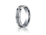 Benchmark® 6mm Comfort-fit Satin-finished Center With Milgrain And Squared Edge Carved Design Band