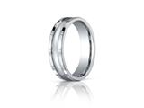 Benchmark 6mm Comfort-fit High Polished Squared Edge Carved Design Band