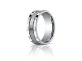 Benchmark® 8mm Comfort-fit Satin-finished Center With Milgrain And Squared Edge Carved Design Band