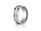 Benchmark® 8mm Comfort-fit High Polished Center With Milgrain And Squared Edge Carved Design Band style: CFSE7801