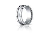 Benchmark 8mm Comfort-fit High Polished Squared Edge Carved Design Band