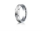 Benchmark Cobalt Chrome 6mm Comfort-fit Satin-finished Beveled Edge Design Ring Style number: CF66416CC