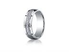 Benchmark Argentium Silver 7mm Comfort-fit Pave Set 9-stone Diamond Design Band Style number: CF67380SV