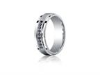 Benchmark Argentium Silver 7mm Comfort-fit Pave Set 9-stone Black Diamond Design Band Style number: CF67381SV