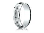 Benchmark 7mm Comfort-fit Satin-finished Beveled Edge Design Ring Style number: CF67439